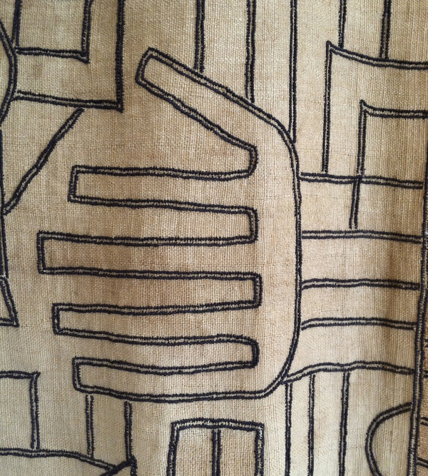 A hand image in a woven fabric from Mali, thanks to Ellen Kochansky