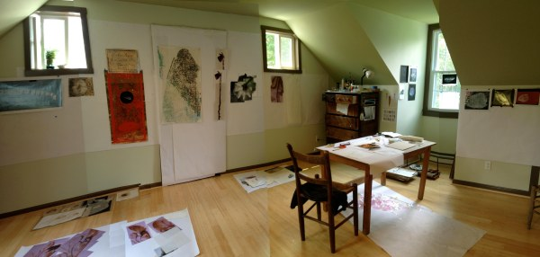 Ana Golici's studio at MLBS, summer 2013